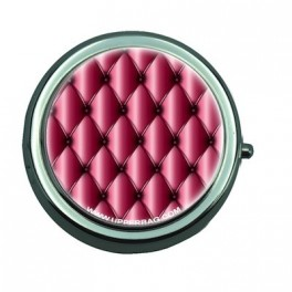Pill Box with Mirror Girly Pink