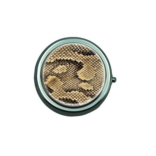 Pill Box with Mirror Jungle Snake Gold