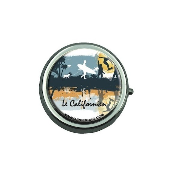 Pill Box with Mirror Le Californien