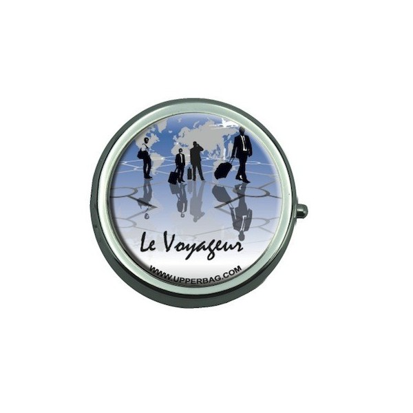 Pill Box with Mirror Le Voyageur