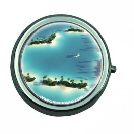 Pill Box with Mirror Love Island