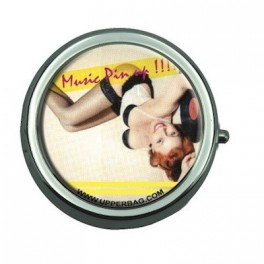 Pill Box with Mirror Music Pin Up