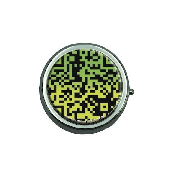 Pill Box with Mirror QR Code Green