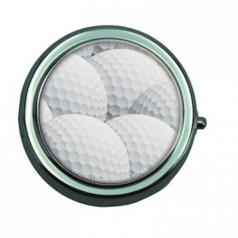 Pill Box with Mirror Sport Golf