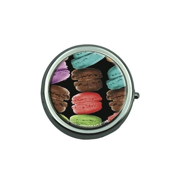 Pill Box with Mirror Sweety Big Macarons