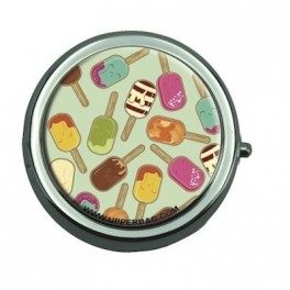 Pill Box with Mirror Sweety Ice Cream