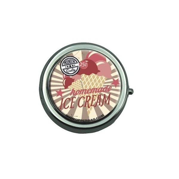 Pill Box with Mirror Sweety Ice Cream Vintage