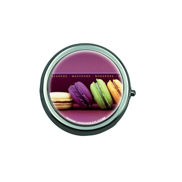 Pill Box with Mirror Sweety Macarons 1