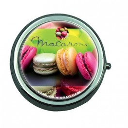 Pill Box with Mirror Sweety Macarons 2