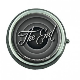 Pill Box with Mirror The End Black