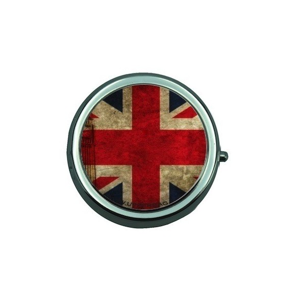 Pill Box with Mirror UK Flag Vintage & Big Ben