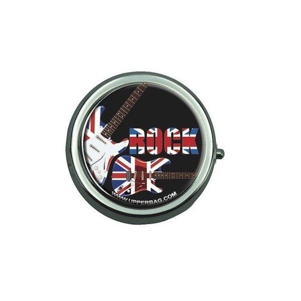 Pill Box with Mirror UK Rock Black