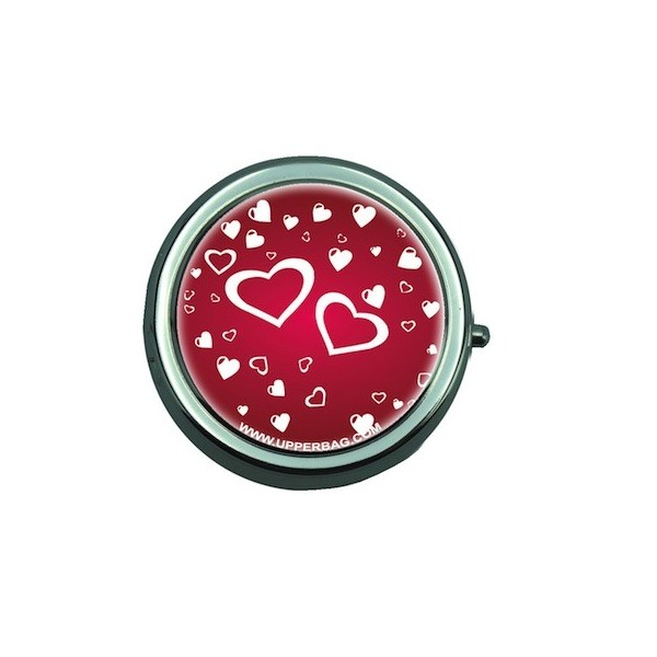 Pill Box with Mirror Venezia Heart