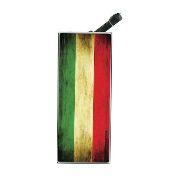 Lighter with clip Italian Flag Vintage