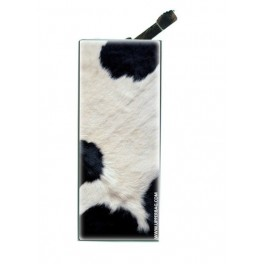 Lighter with clip Jungle Cow B&W