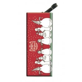 Lighter with clip Merry Christmas Red