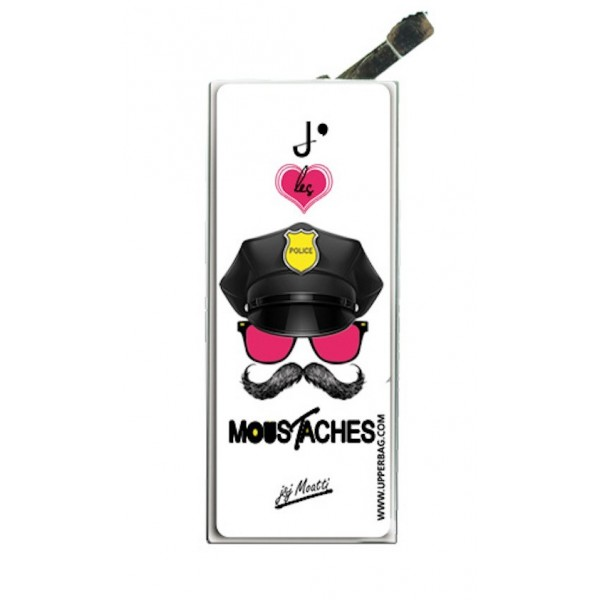 Lighter with clip Moatti Moustaches Cops