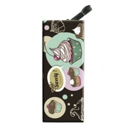 Lighter with clip Sweety Cupcakes Vintage Black