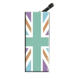 Lighter with clip UK Flag Pastel