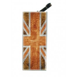 Briquet avec clip UK Flag Vintage & Orange
