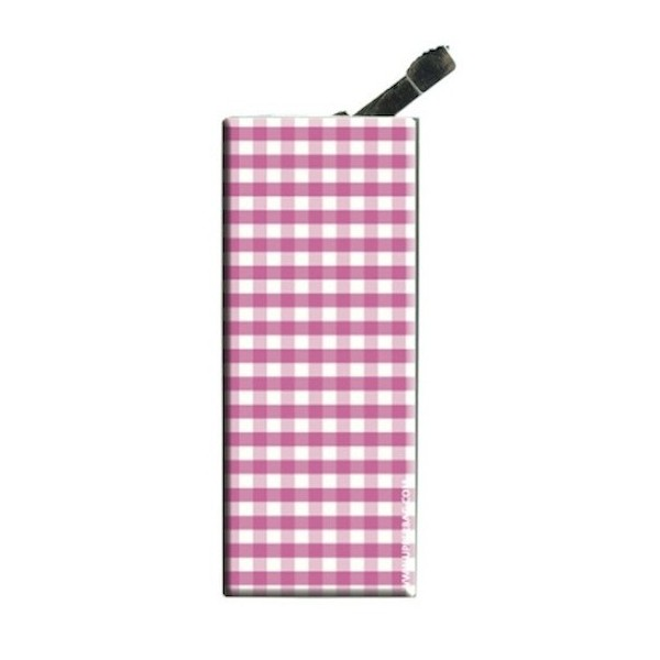 Lighter with clip Vichy Pink