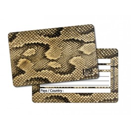 Etiquette Bagage Jungle Snake Gold