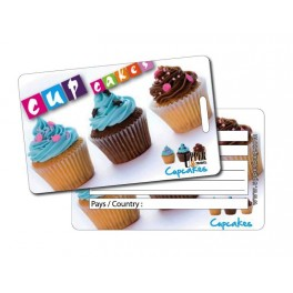 Etiquette Bagage Sweety Cupcakes