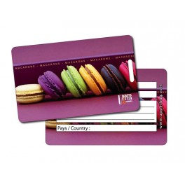 Etiquette Bagage Sweety Macarons 1