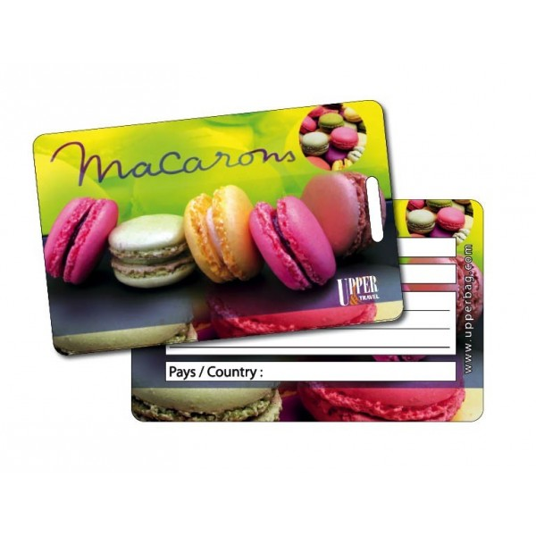 Etiquette Bagage Sweety Macarons 2