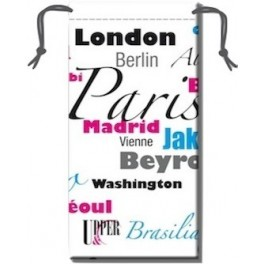 Etui Lunettes Main Cities White