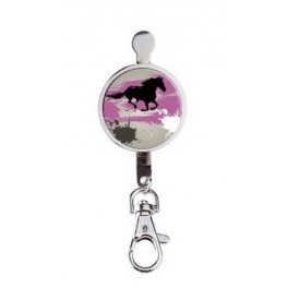 Hanger key Horse Grey And Pink