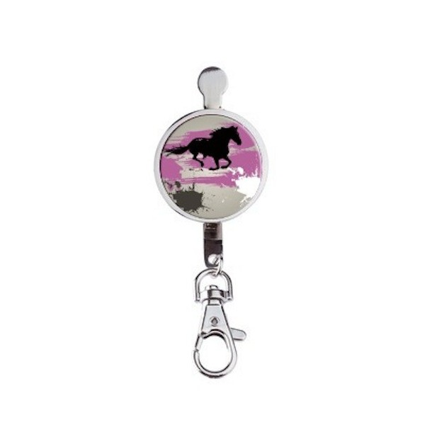 Accroche clés Horse Grey And Pink