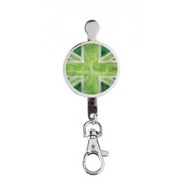 Hanger key UK Flag Vintage & Green