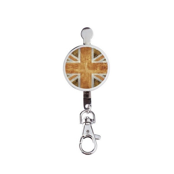 Hanger key UK Flag Vintage & Orange