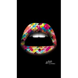 Screen background Moatti Lips 3D Arlequin
