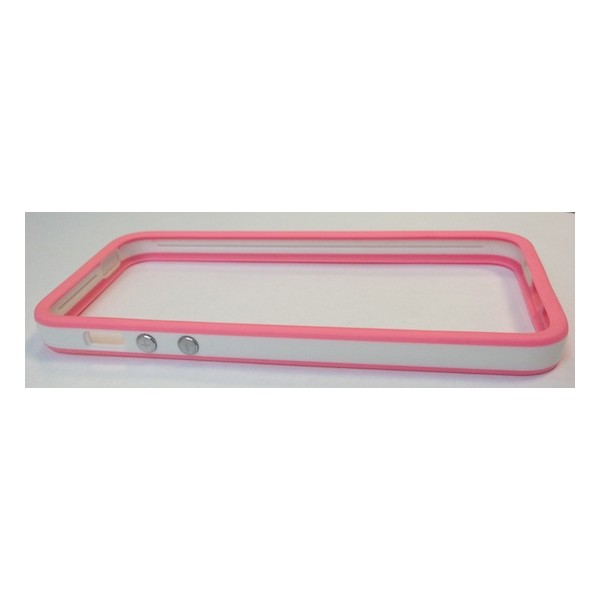 Protection iPhone 5 Bumper Pink & White