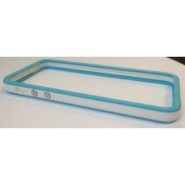 Protection iPhone 5 Bumper Turquoise & White