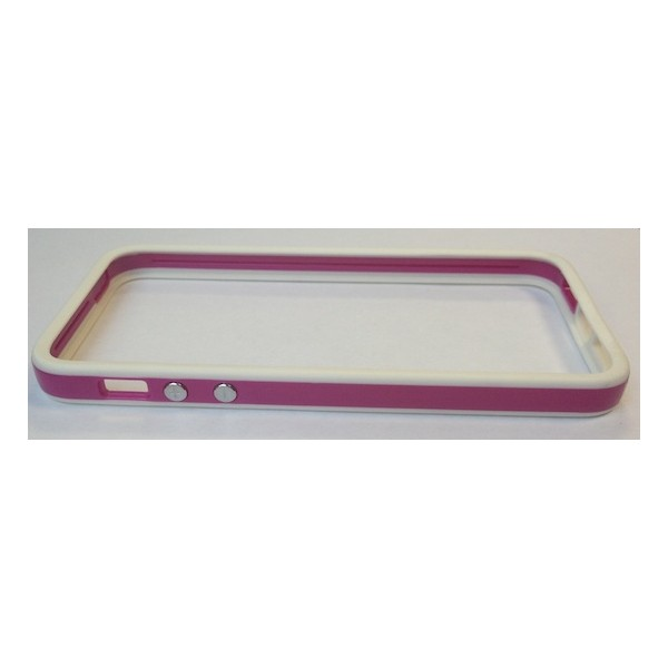 Protection iPhone 5 Bumper White & Purple