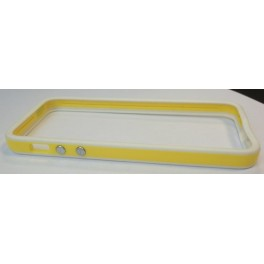 Protection iPhone 5 Bumper Yellow & White