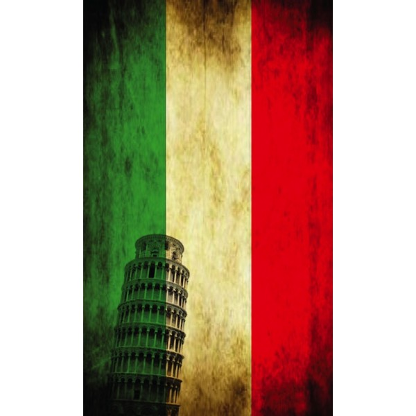Screen Background Italian Flag Vintage