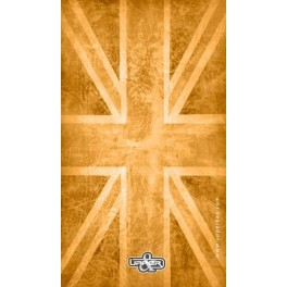 Screen background UK Flag Vintage & Orange