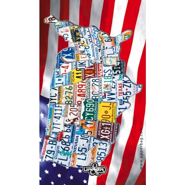 Screen background USA Map & Flag