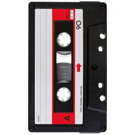 Screen background Vintage Music K7 Red